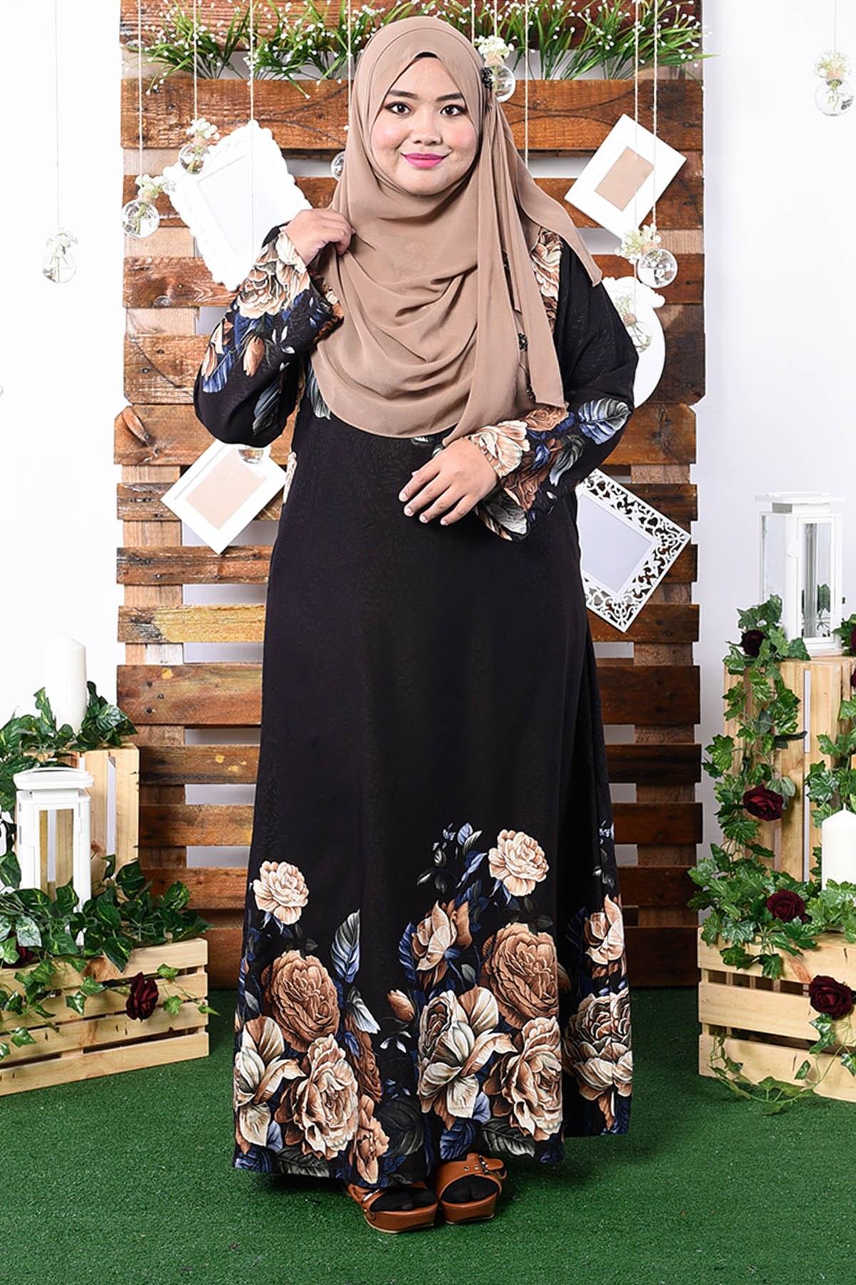 Inspirasi Desain Baju Bridesmaid Hijab Mndw Abaya Fiona – Golden Brown – Muslimahclothing