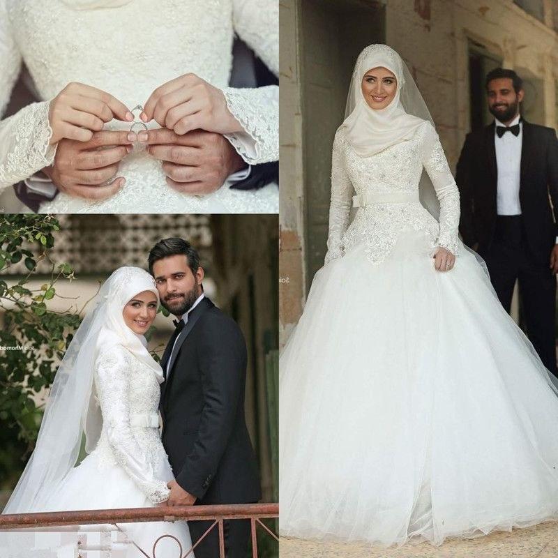 Inspirasi Hijab Bridesmaid Dress U3dh Modest Long Sleeve Wedding Dresses 2019 Sweetheart Lace