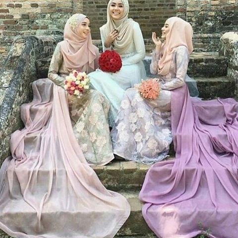 Inspirasi Hijab Bridesmaid Dress X8d1 toscaribbon Hijabapp