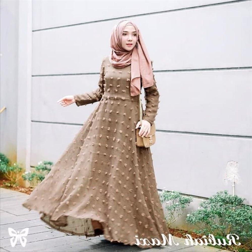 Inspirasi Model Baju Gamis Pernikahan Fmdf Wanita Sepatu 16