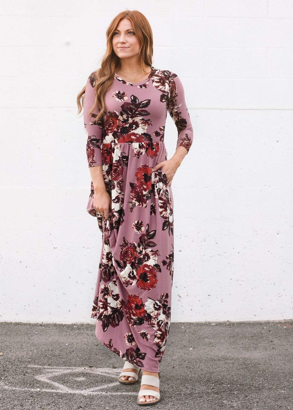 Model Design Bridesmaid Hijab 0gdr Classic Rose Maxi Dress