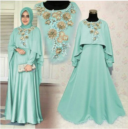Model Gamis Syari Untuk Pesta Pernikahan Irdz Model Baju Gamis Pesta Pernikahan 2017 Mawar Turkish Jual