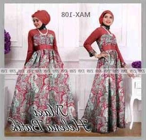 Model Gamis Syari Untuk Pesta Pernikahan Q5df Maxi Dress Pesta Helena Batik Pashmina Konveksi Seragam