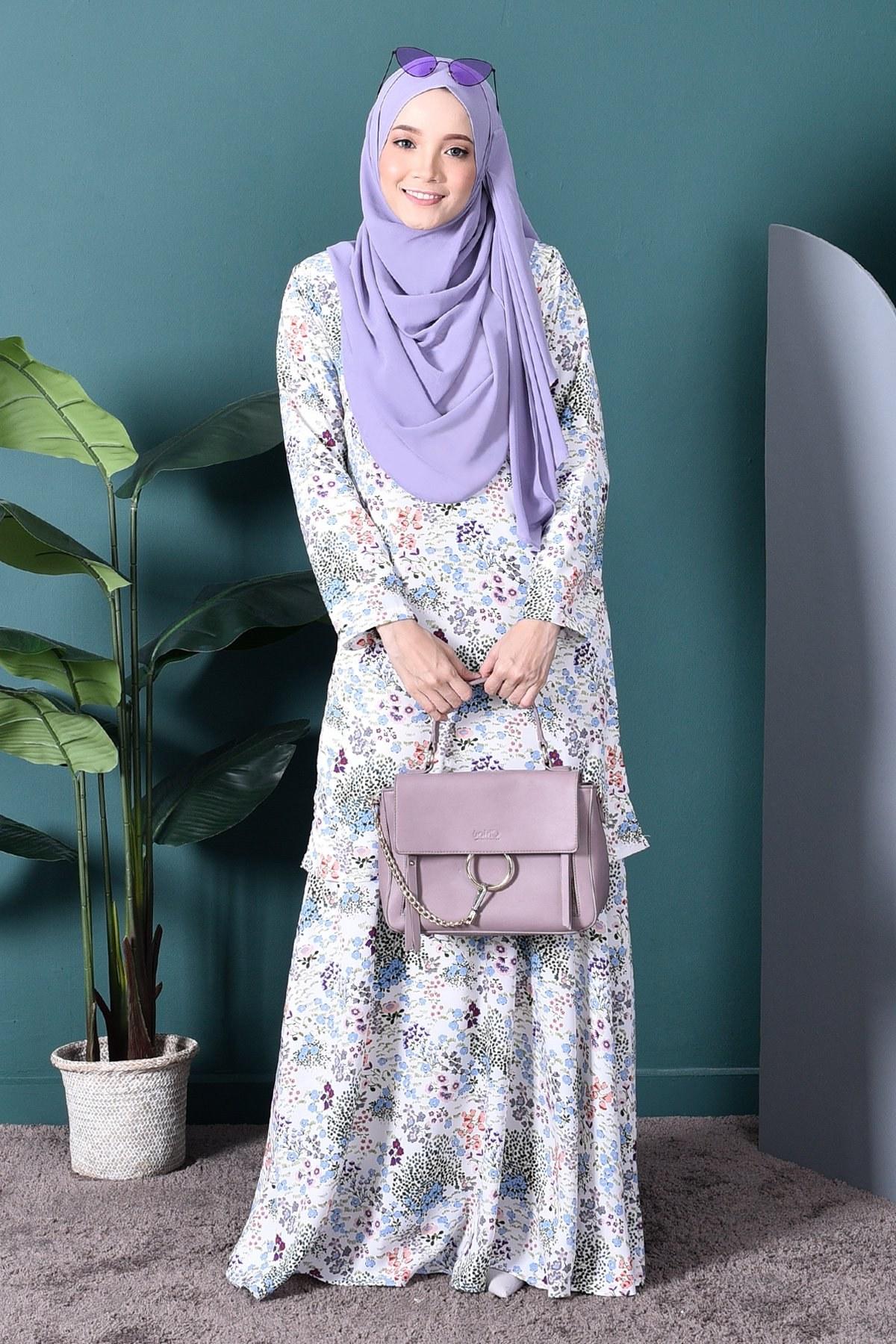 Model Model Baju Bridesmaid Hijab 2019 H9d9 Baju Kurung Agnes – Cotton White – Muslimahclothing