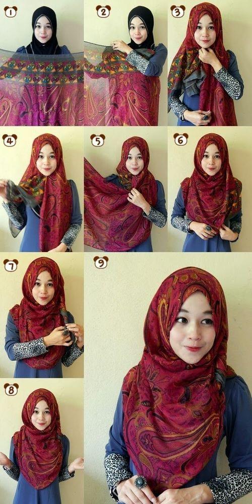 Tutorial Hijab Pashmina Dibuat Syari Ragam Muslim