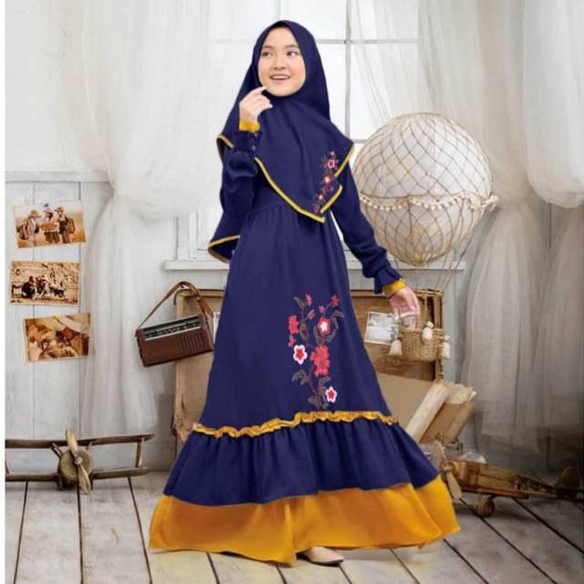 Bentuk Baju Lebaran Anak Perempuan Umur 13 Tahun 0gdr Baju Muslim Anak Tanggung Abg Jumbo Umur 8 12 Tahun Little