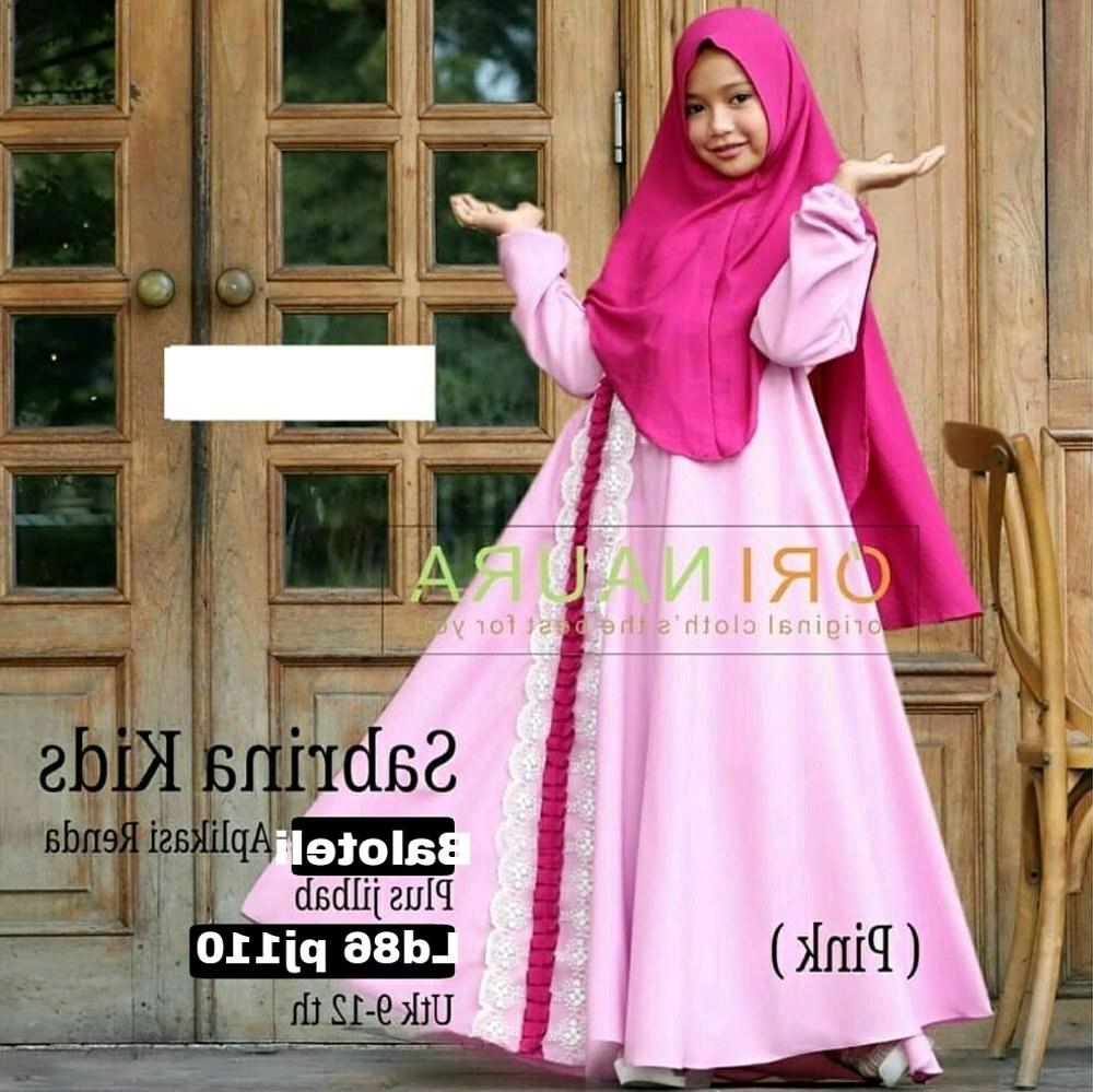 Bentuk Baju Lebaran Anak Perempuan Umur 13 Tahun O2d5 Jual Gamis Anak Sabrina ori Naura Baju Muslim Umur 9 12