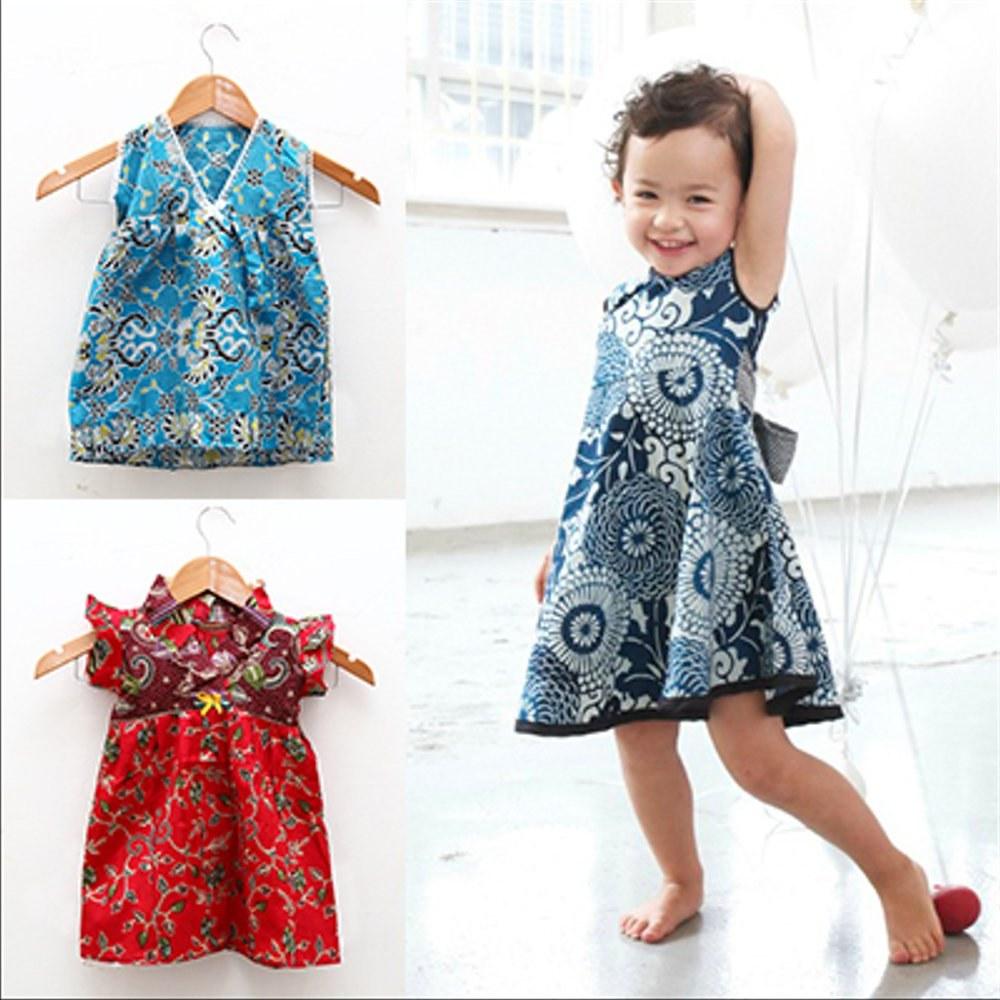 Bentuk Baju Lebaran Anak Perempuan Umur 3 Tahun Fmdf Jual Dress Batik Anak Kecil Baju Terusan Umur 1 3 Tahun Di