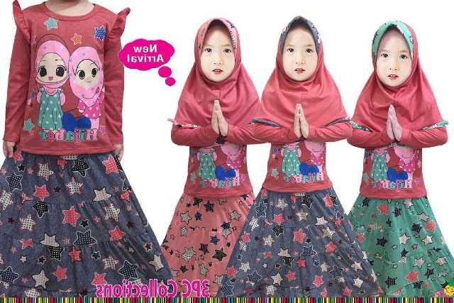 Bentuk Baju Lebaran Anak Perempuan Umur 3 Tahun Ipdd Jual Setelan Muslim Anak Perempuan Rok Umur 2 3 4 5 6