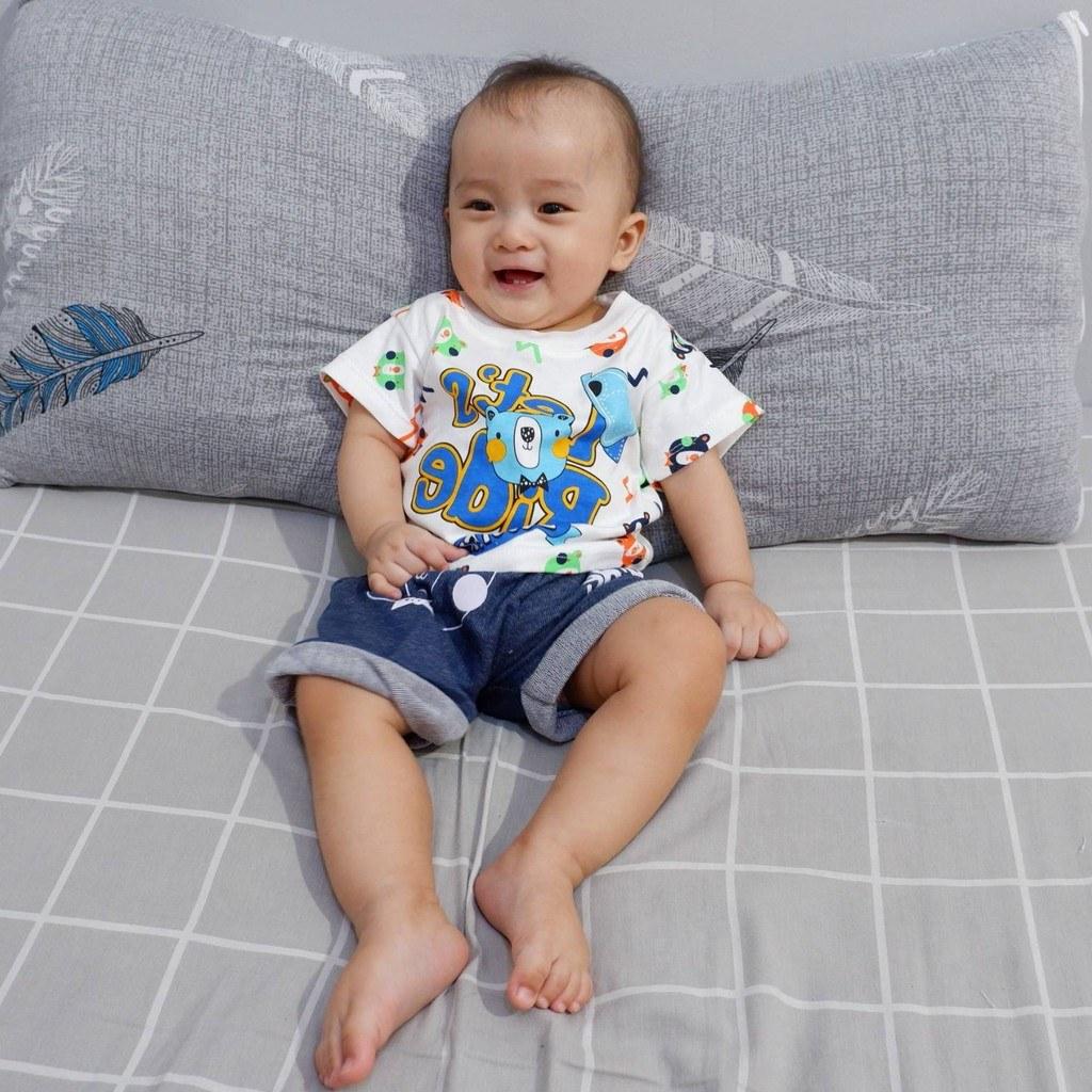 Bentuk Baju Lebaran Bayi 6 Bulan Zwdg Setelan Baju Celana Bayi Anak Laki Laki Usia 3 12 Bulan