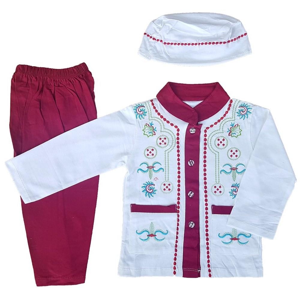 Bentuk Baju Lebaran Bayi Laki Laki J7do Jual Beli top Baju Muslim Koko 6 12 Bulan Anak Bayi