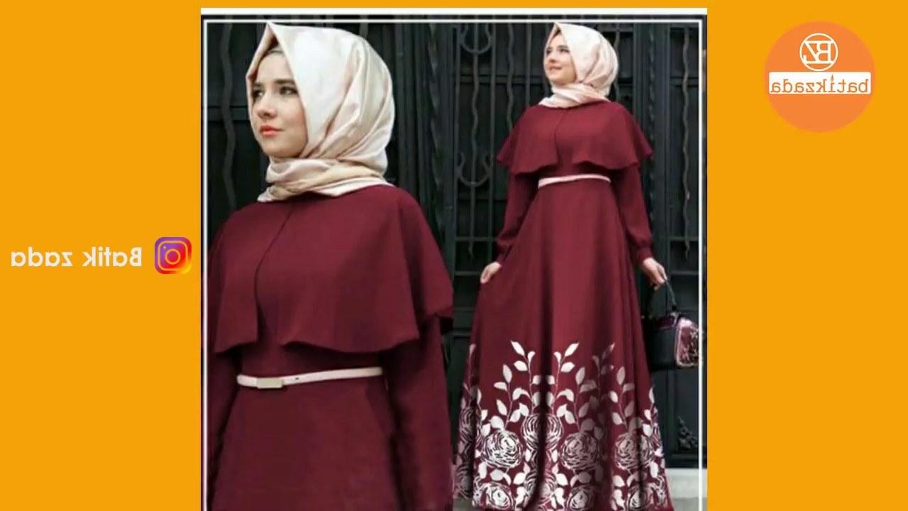 Bentuk Baju Lebaran Gamis 2018 Mndw Trend Model Baju Muslim Lebaran 2018 Casual Simple