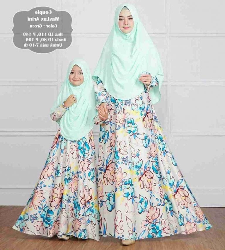 Bentuk Baju Lebaran Ibu Ibu Bqdd Gamis Ibu Dan Anak Lebaran Arini Gamisalya