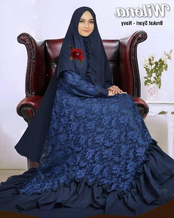 Bentuk Baju Lebaran Jumbo D0dg Gamis Modern Brukat 2019 Ibu Ibu Peengajian Wilona Syari