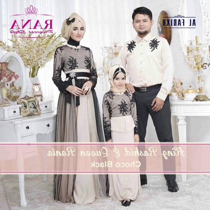 Bentuk Baju Lebaran Keluarga Terbaru 4pde 18 Model Baju Couple Muslim Keluarga Untuk Lebaran