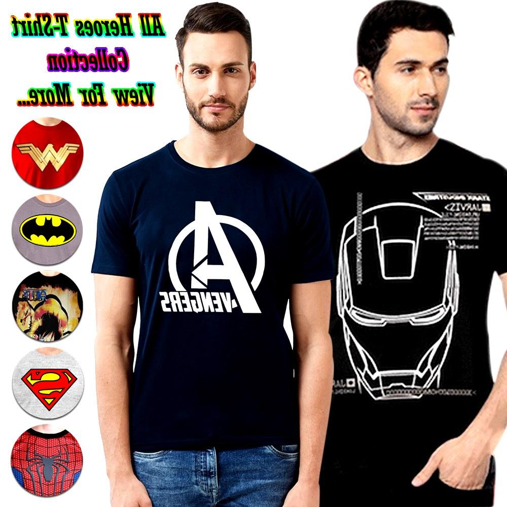 Bentuk Baju Lebaran Pria 2020 Whdr Baju Kaos Pria Murah Fantasia T Shirt Pria My Heroes