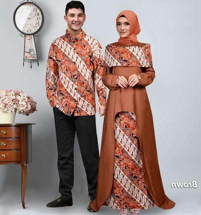 Bentuk Baju Lebaran Sarimbit 2018 E6d5 Baju Lebaran Terbaru 2018 Couple Batik Sabna Coklat