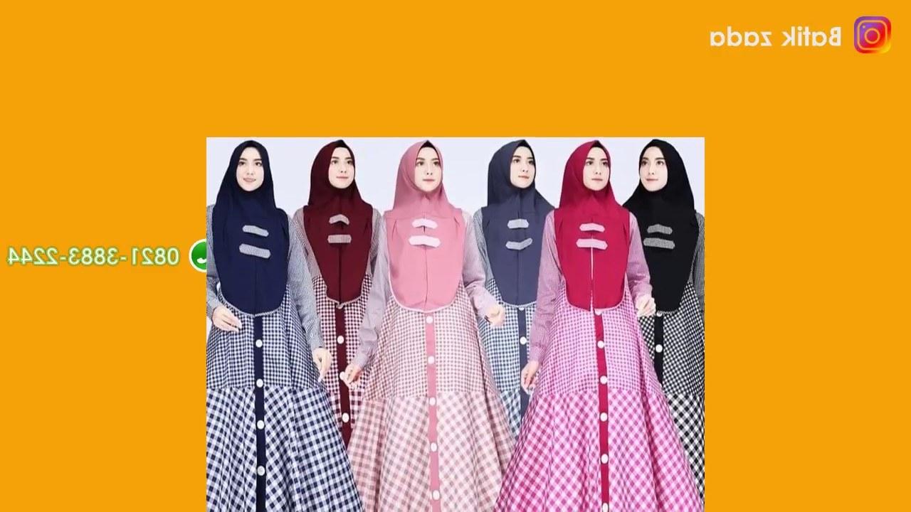 Bentuk Baju Lebaran Sarimbit 2018 O2d5 Model Gamis Terbaru Baju Lebaran 2018 Model Modern Hijab