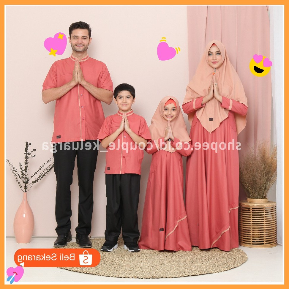Bentuk Baju Lebaran Shopee Qwdq Gamis Couple Baju Lebaran 2020 Sarimbit Seragam Keluarga