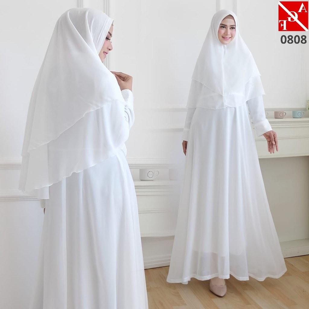 Bentuk Baju Lebaran Shopee U3dh Baju Gamis Putih Baju Lebaran Busana Muslim Gamis