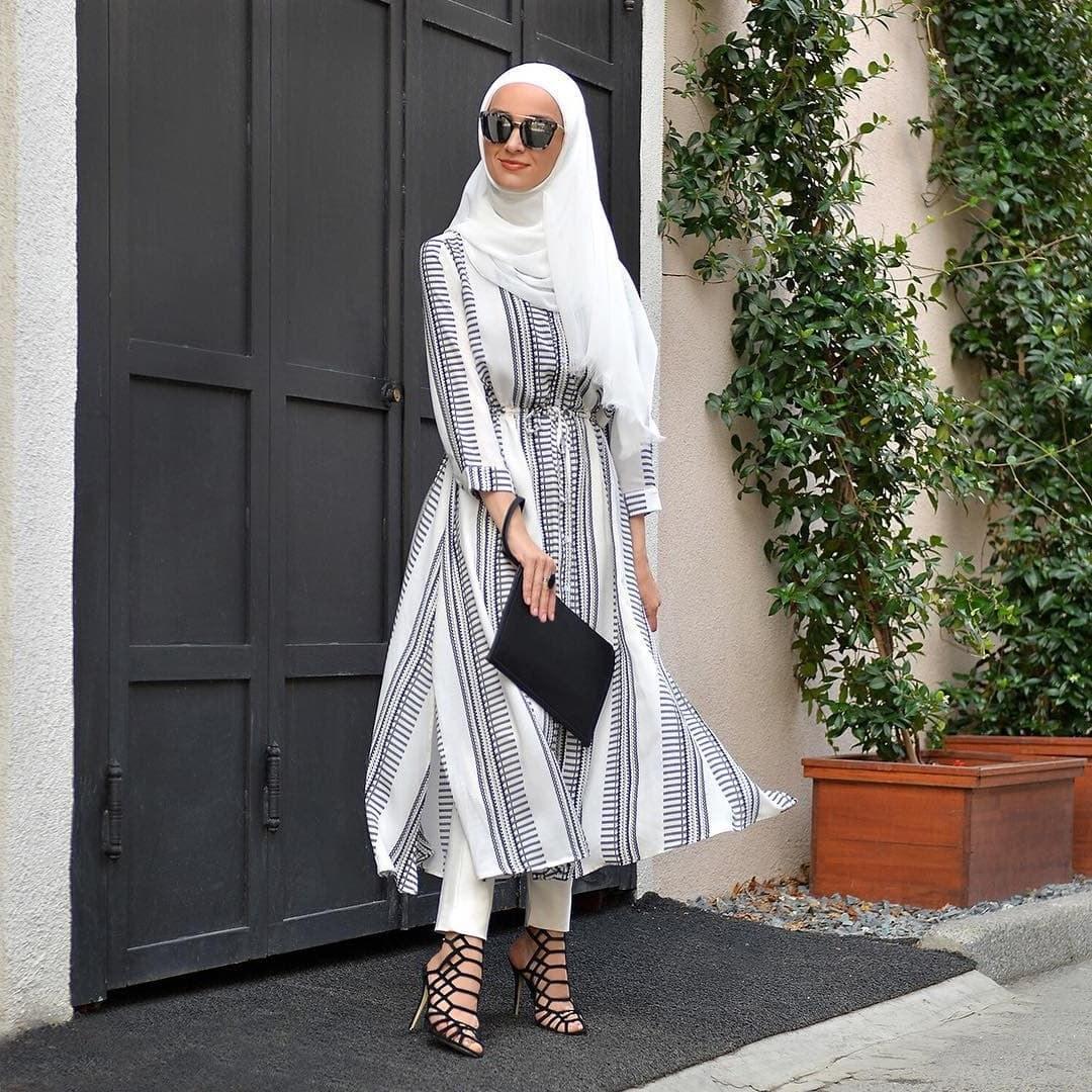 Bentuk Baju Lebaran Simpel Elegan Ftd8 45 Tren Populer Model Baju Muslim Terbaru 2019 Simple