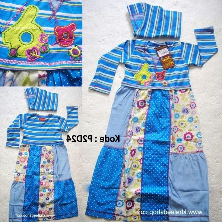 Bentuk Baju Lebaran Untuk Anak Usia 13 Tahun Y7du Baju Muslim Anak Cewek P2d24 Size 2 Balita Cewek Untuk