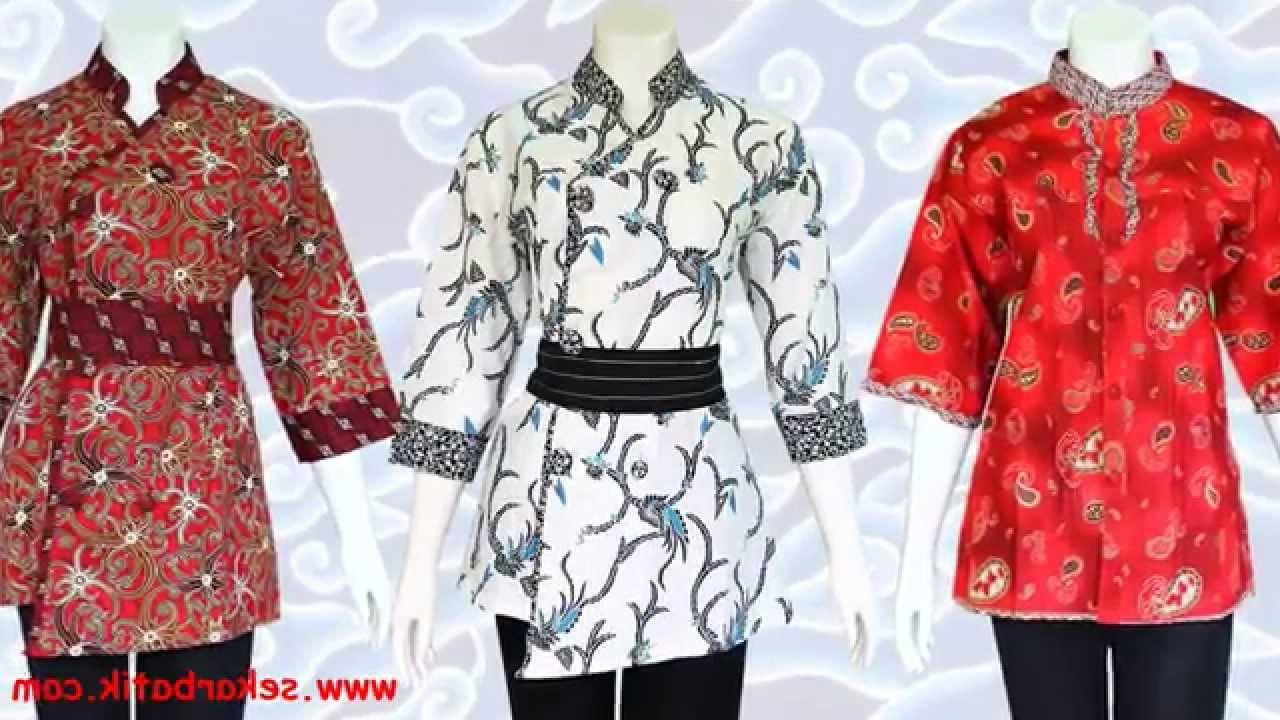 Bentuk Baju Lebaran Wanita Terbaru Q5df Baju Batik Wanita Modern Model Terbaru