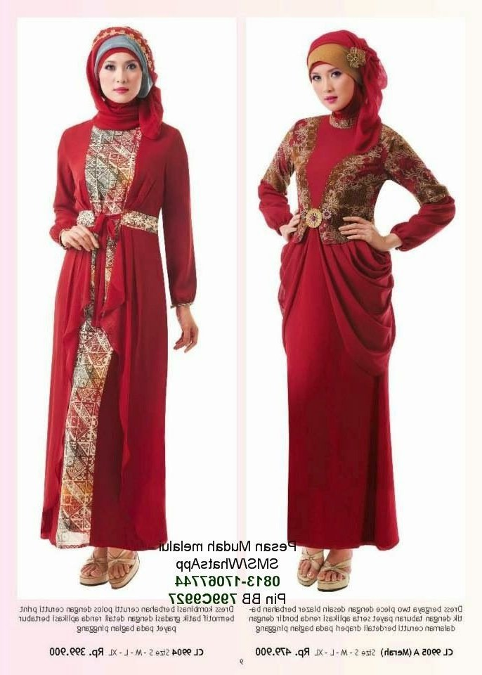 Bentuk Fashion Baju Lebaran Xtd6 Gamis Modern Terbaru 2014 Cantik Berbaju Muslim