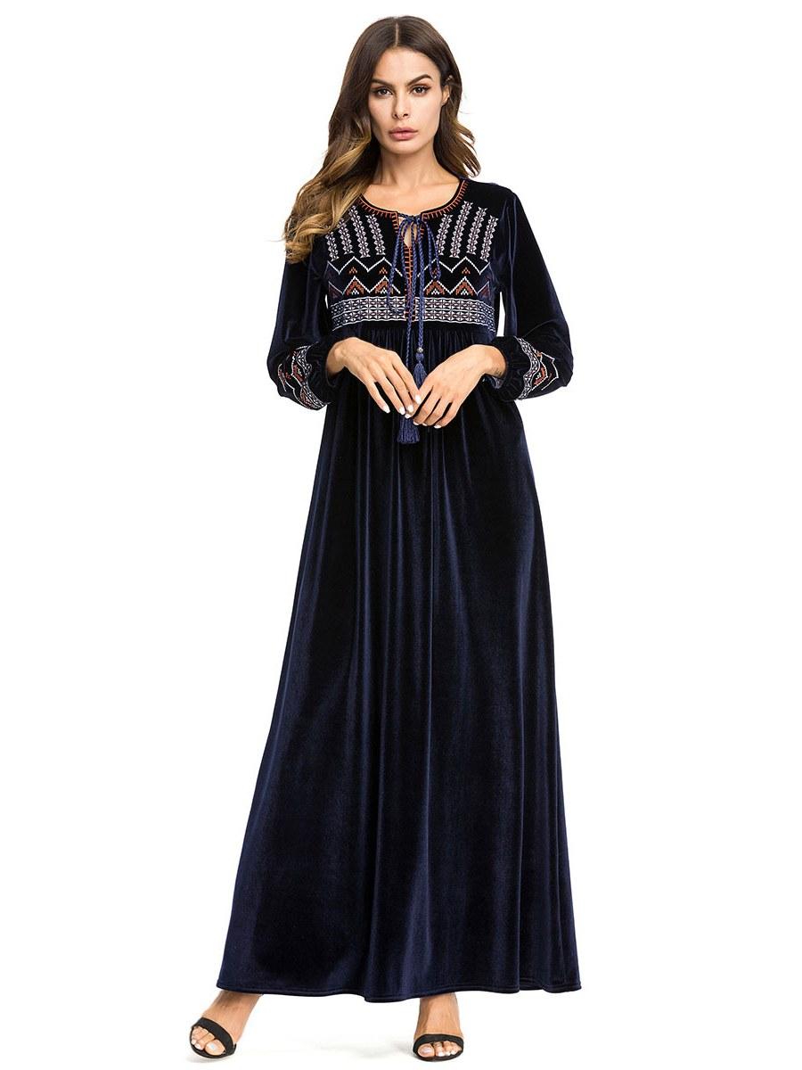 Bentuk Fashion Muslim Korea 9fdy New Fahion Plus Size islamic Muslim Abaya Women Maxi Long