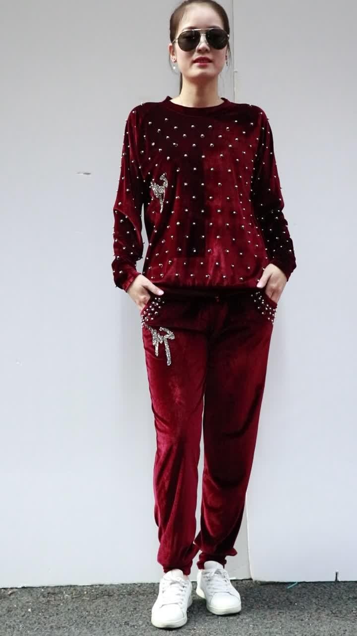 Bentuk Fashion Muslim Korea Etdg 2019 Good Quality Korea Velvet Sport Muslim Women islamic