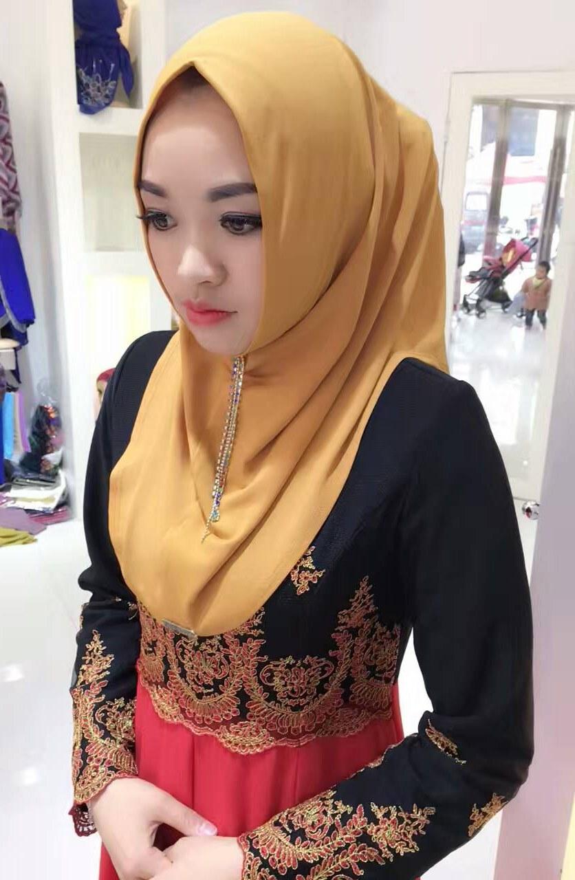Bentuk Fashion Muslim Korea Fmdf 20pcs Bag 2017 New south Korean Ity Plain One Piece Hijab