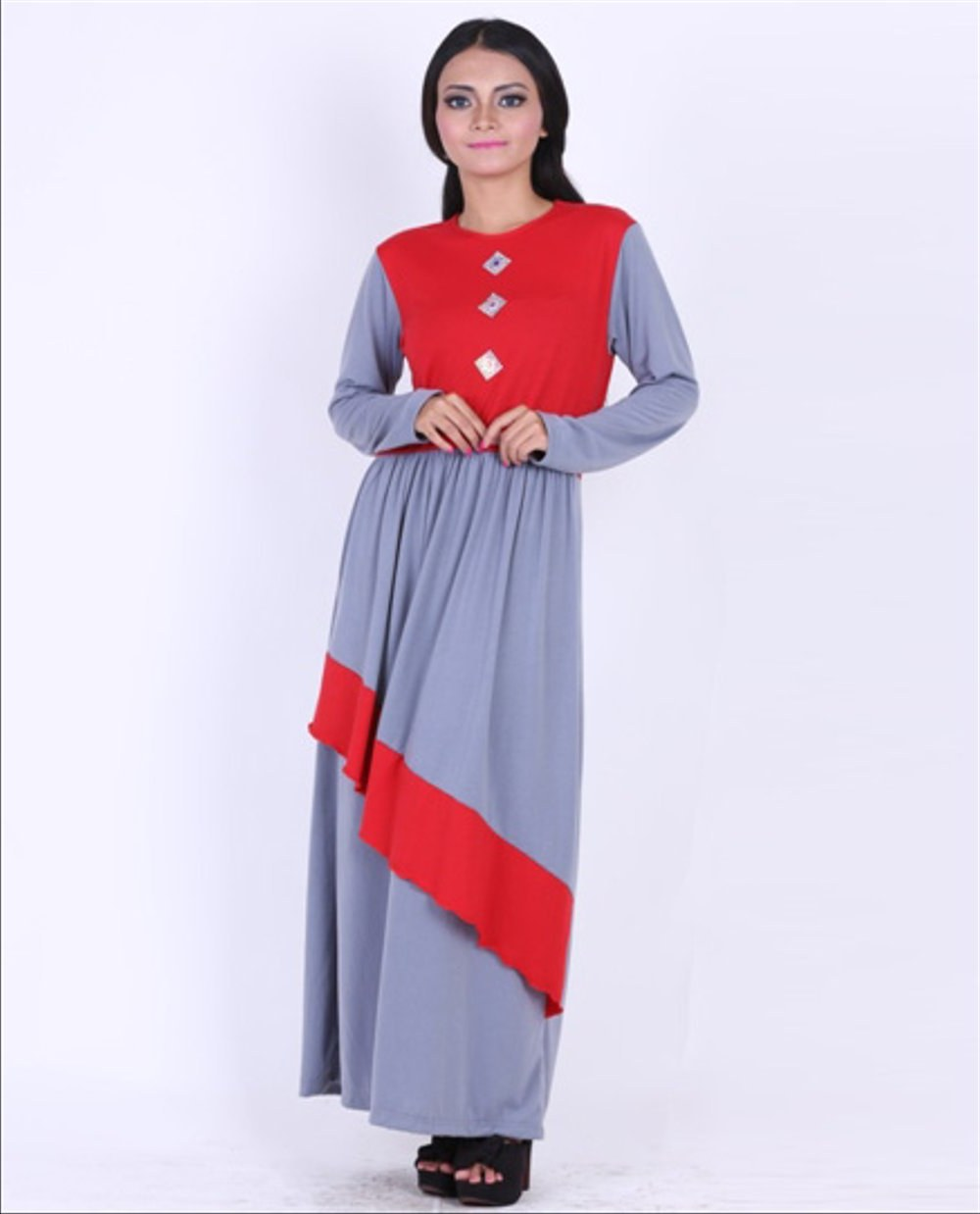 Bentuk Fashion Muslim Korea Whdr Jual Model Baju Dress Wanita Murah Korea Muslim Long Dress