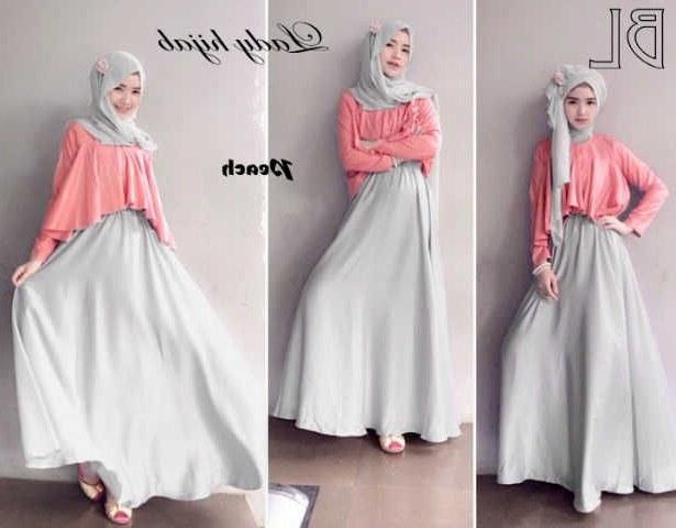 Bentuk Fashion Muslim Korea Zwd9 Long Dress Muslim Modern