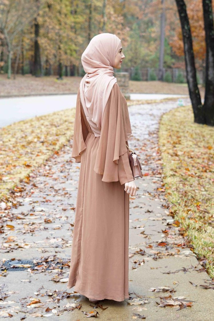 Bentuk Fashion Muslim Korea Zwdg Vintage Women Abaya Long Maxi Dress Arab Jilbab Muslim