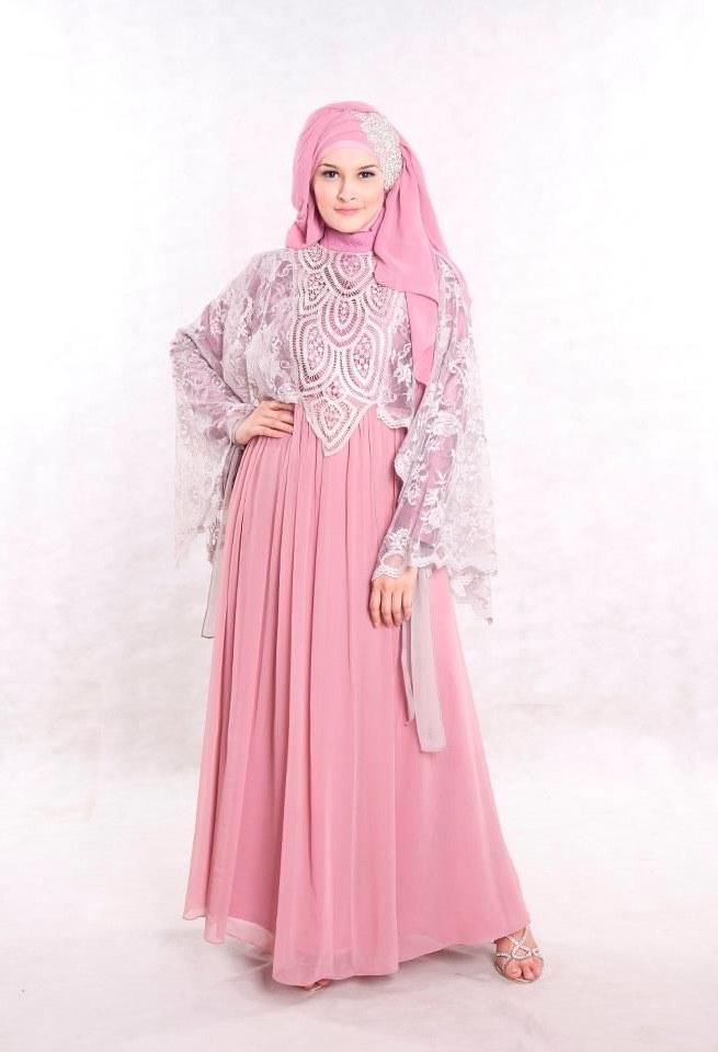 Bentuk Fashion Muslimah Modern 0gdr Baju Pesta Muslimah Modern Dusty Pink