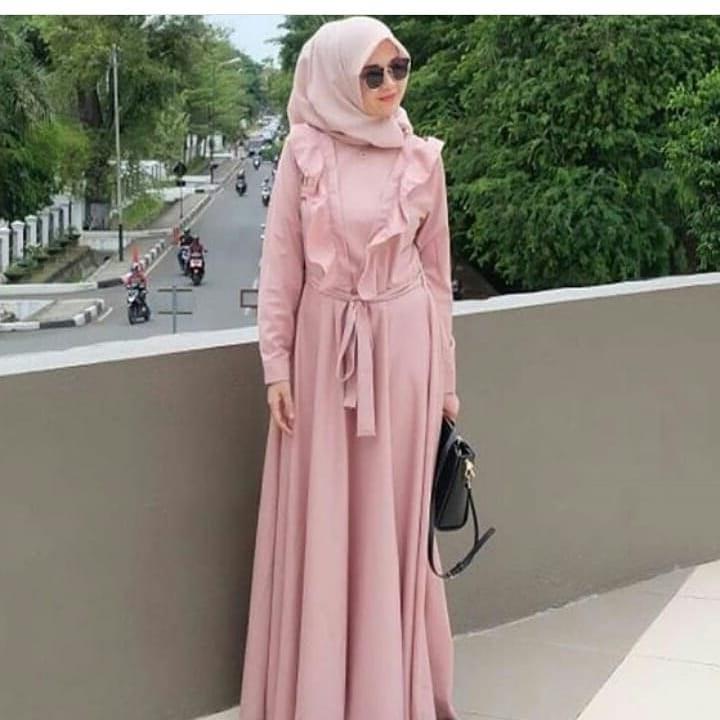 Bentuk Fashion Muslimah Terbaru 2020 Fmdf 39 Desain Model Long Dress Muslim 2020 Terbaru – Model