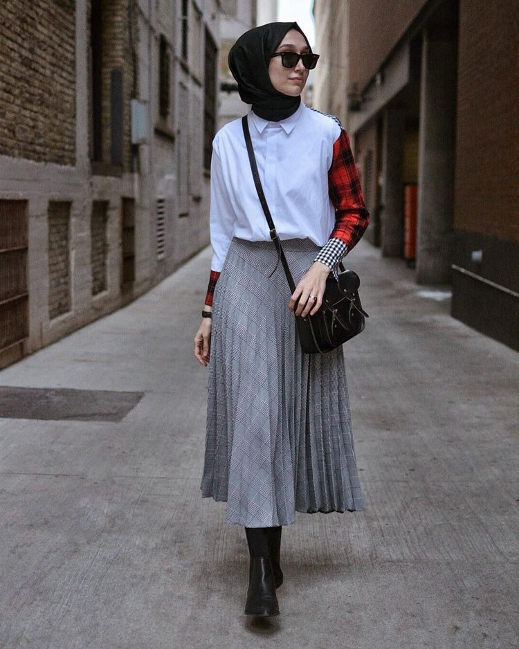 Bentuk Fashion Muslimah Terbaru 2020 Jxdu 30 Style Hijab Casual Simple Kekinian Remaja Vintage