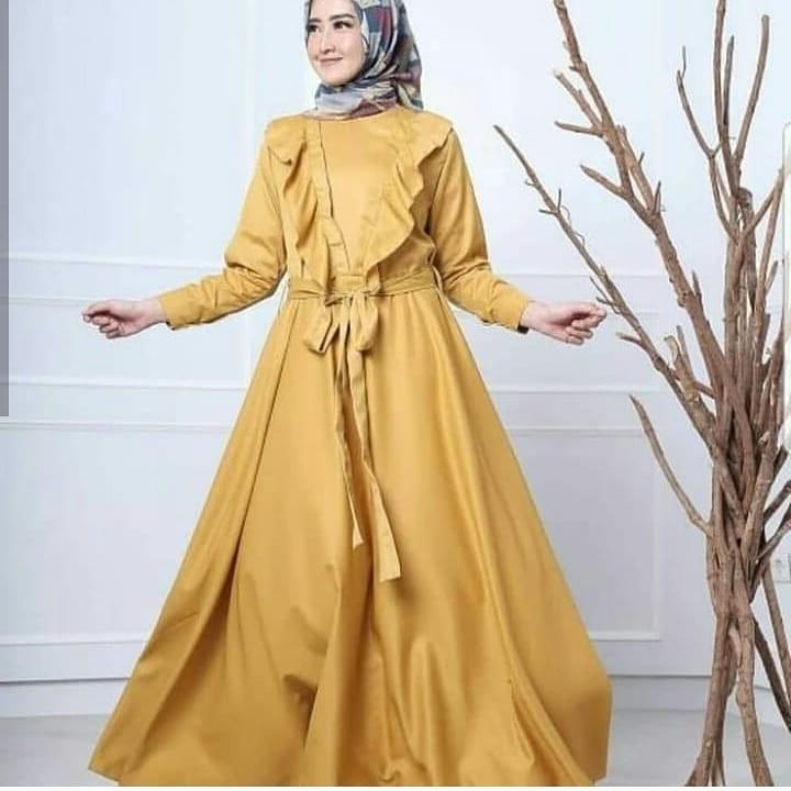 Bentuk Fashion Muslimah Terbaru 2020 Tqd3 39 Desain Model Long Dress Muslim 2020 Terbaru – Model