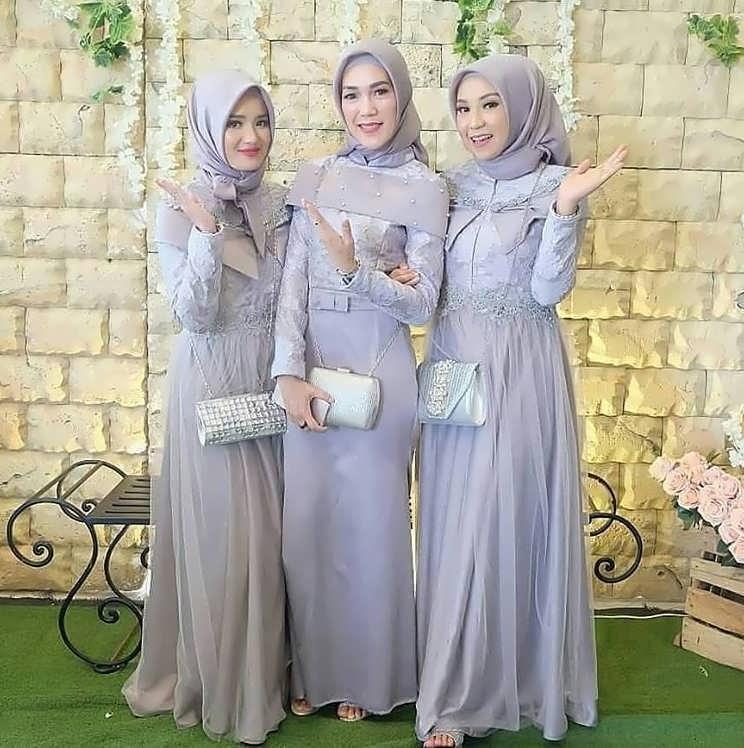 Bentuk Koleksi Baju Lebaran 2019 Etdg 30 Model Gamis Kebaya 2019 Fashion Modern Dan Terbaru