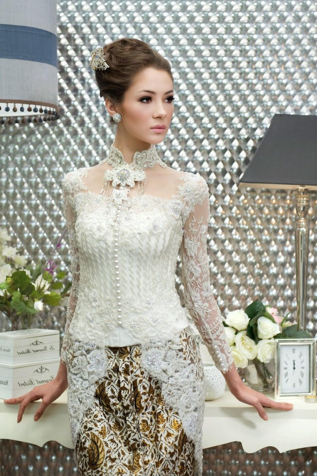 Bentuk Koleksi Baju Lebaran 2019 Irdz Kebaya Putih Pengantin