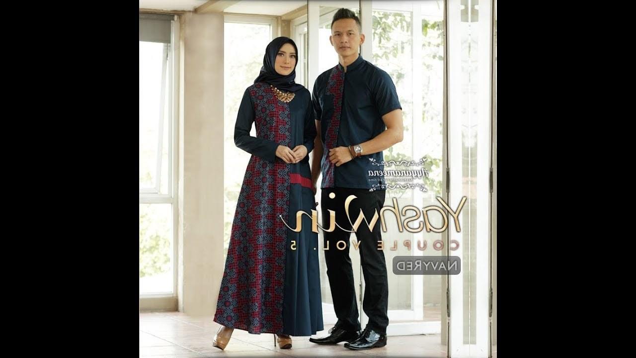 Bentuk Koleksi Baju Lebaran 2019 Wddj Trend Gamis Batik Modern Terbaru Couple Keluarga Untuk