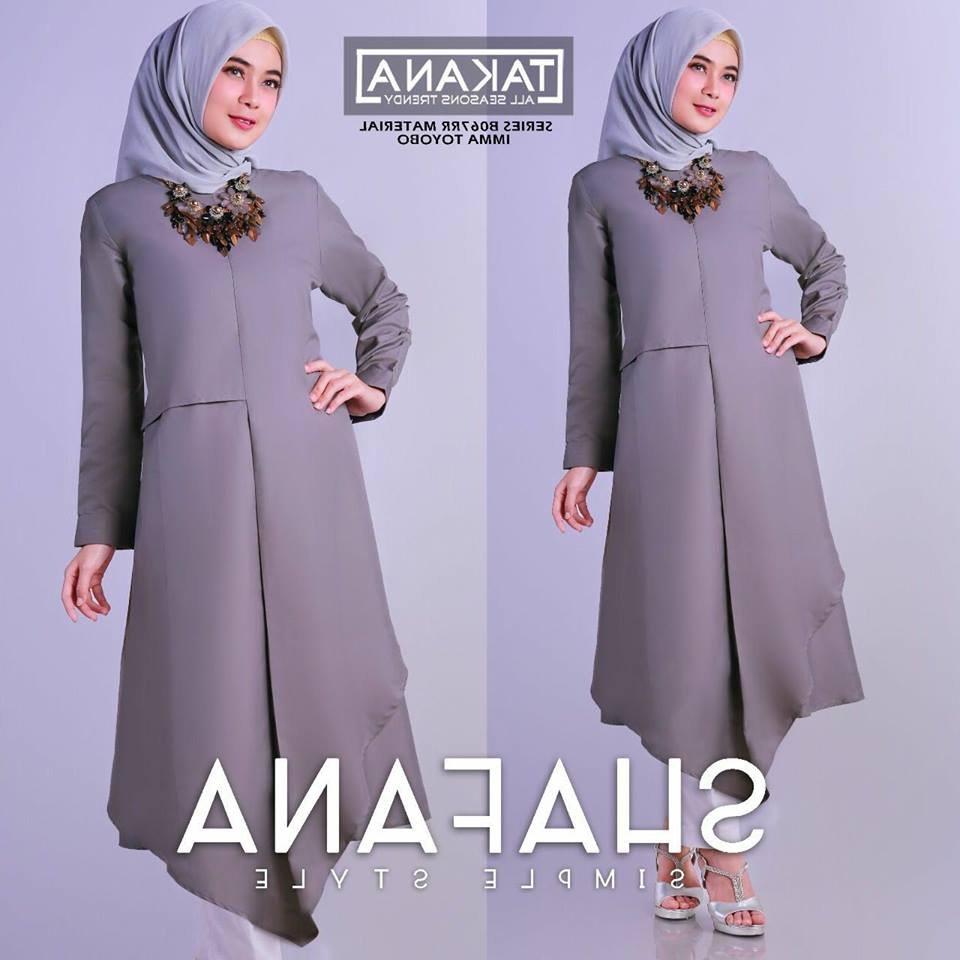 Bentuk Model Baju Lebaran 2018 atasan Kvdd Model Baju Muslim 2018 Terbaru