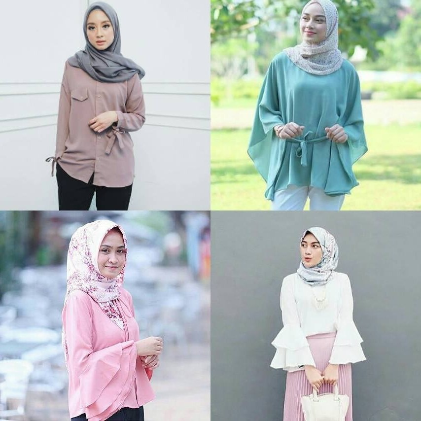 Bentuk Model Baju Lebaran 2018 atasan Qwdq 18 Model Baju Muslim Modern 2018 Desain Casual Simple & Modis