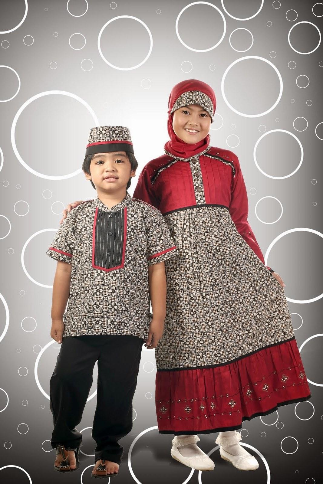Bentuk Model Baju Lebaran Anak Zwdg Model Baju Batik Muslim Anak
