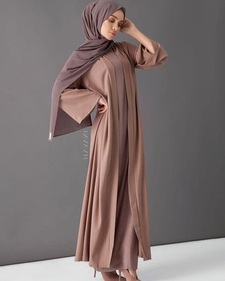 Bentuk Model Baju Lebaran atas Bawah Drdp 25 Model Gamis Lebaran Terbaru 2018 Simple & Modern