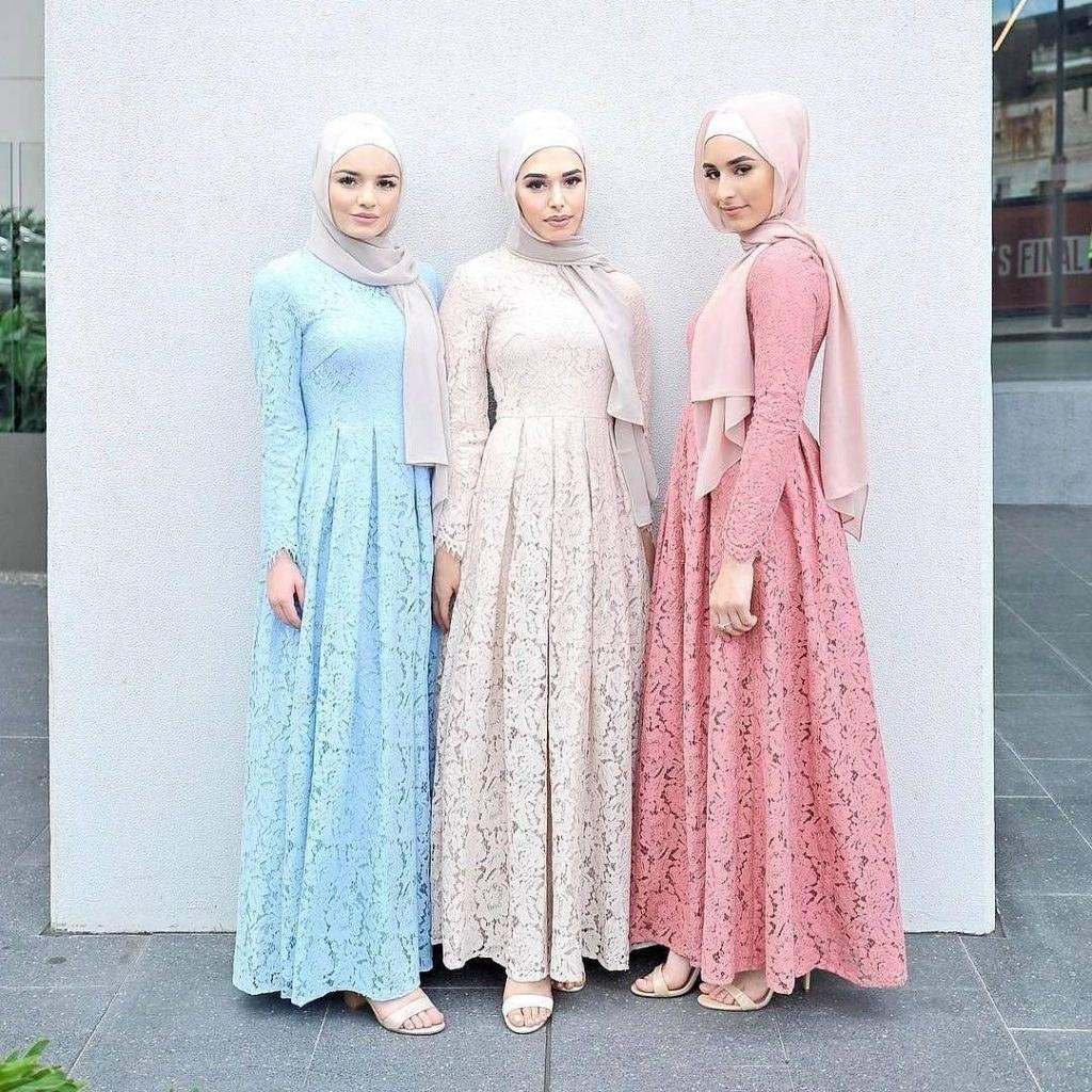 Bentuk Model Baju Lebaran Brokat 2018 Dwdk Trend Busana Muslim 2018 Gayamu Bakal Makin Keren Nih