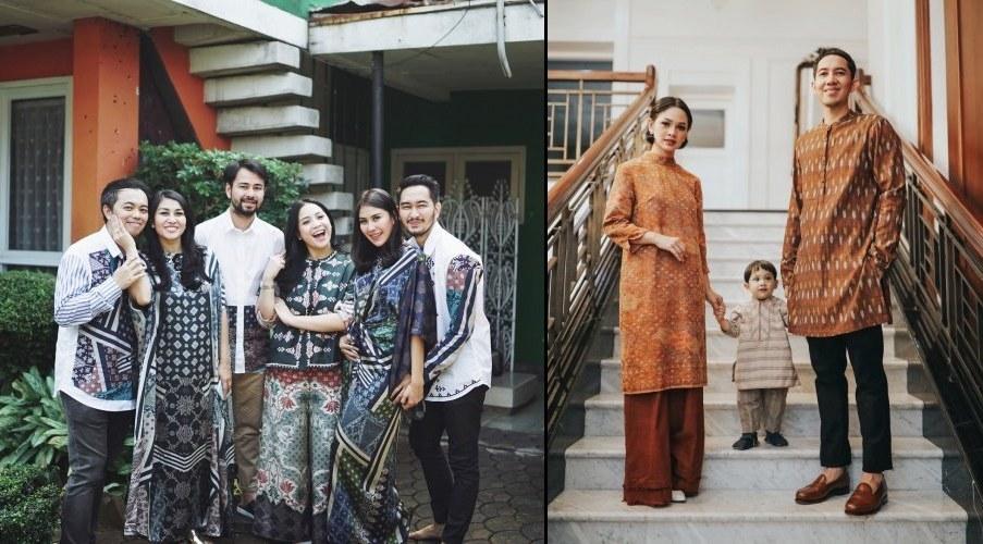 Bentuk Model Baju Lebaran Keluarga Artis Wddj 20 Parade Seragam Lebaran Dari Famili orang Terkenal