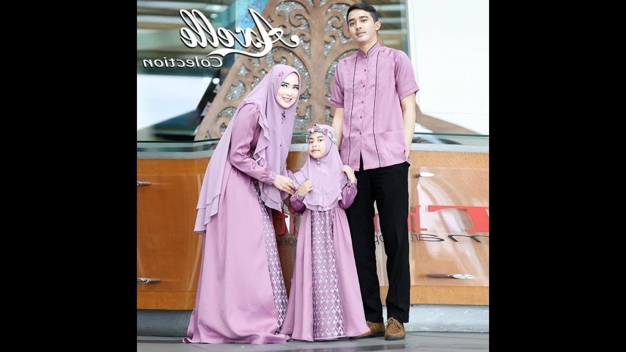 Bentuk Model Baju Lebaran Muslim Terbaru 3id6 Trend Baju Lebaran 2018 Keluarga Muslim