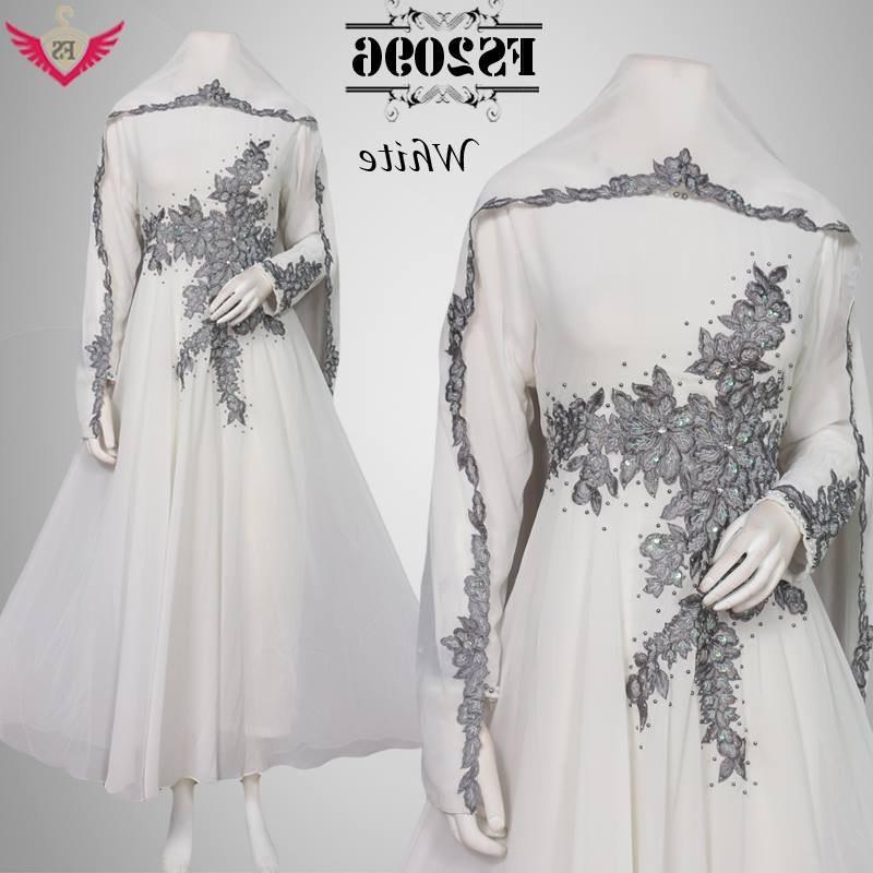 Bentuk Model Baju Lebaran Muslim Terbaru Q5df Jual Baju Muslim Putih Anggun Mewah Lebaran Model Terbaru