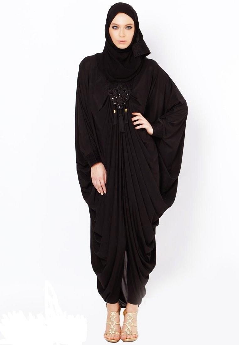 Bentuk Model Baju Lebaran Untuk orang Gemuk E9dx Koleksi Busana Muslim Kaftan Abaya Untuk Wanita Gemuk